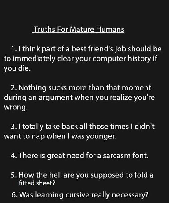 Truth for Mature Humans 1